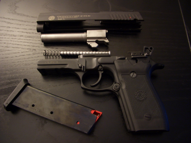 Tarus PT38s disassembled